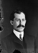 Orville  Wright  (1871-1948), American pioneer aviator.  Orville and his brother Wilbur ran a  small  bicycle  factory  in  Dayton, Ohio.   They  beca...