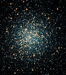 M3 globular star cluster (NGC 5272). Globular star clusters are large, densely-packed balls of old stars. M3 contains over 500,000 stars and is about ...