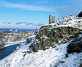 St. Anthony's Chapel, Holyrood Park in winter. Edinburgh. Scotland