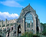 Ruins of Holyrood abbey, Palace of Holyroodhouse. Edinburgh. Scotland