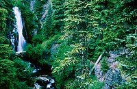 Sahalie Falls on the eastern slopes of Mount Hood. Mount Hood National Forest. Oregon. USA