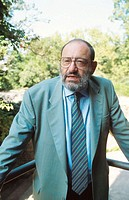 Umberto Eco, Italian literary critic, novelist, and semiotician. 1993