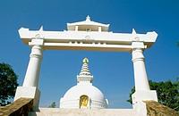 Vishwa Shanti Stupa. Rajgir. Bihar. India