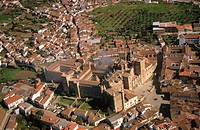 Aerial view of Guadalupe in Caceres province. Extremadura. Spain