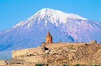 Khor Virap monastery. Mount Ararat. Armenia