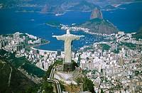 Statue of ´Cristo Redentor´ in Mt. Corcovado. Rio de Janeiro. Brazil