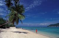 Beach at Pulau Perhentian Besar, Trengganu, Malaysia
