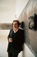 Jannis Kounellis, Greek artist. 43th Venice Biennale. 1988