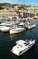Old port area. Genoa. Liguria. Italy