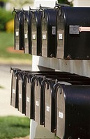 Black mailboxes. USA