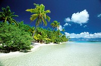 One Foot Island, Aitutaki Lagoon, Cook Islands, Pacific Ocean