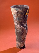 Copy of an artificial leg in brass and plaster from the original at the Royal College of Surgeons, London made around 1910. The original was found in ...