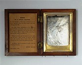 An electrotype copy of a plaster replica of the lunar crater Eratosthenes, made by the amateur astronomer Henry Blunt and framed in a wooden case. The...