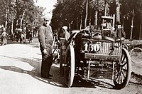 Photograph taken from an album of images compiled by Charles Stewart Rolls (1877-1910), English motorist, motor car manufacturer and aviator. Rolls wa...