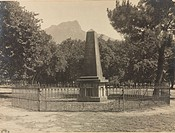 One of 19 photographs from the Royal Observatory, Cape of Good Hope, South Africa showing the monument marking the site of Sir John Herschel's (1792-1...