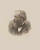 Engraving by C H Jeens of James Clerk Maxwell (1831-1879. Maxwell was one of the world's greatest theoretical physicists. Born in Edinburgh, Scotland ...