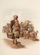 Hand coloured aquatint from ´The Costume of Great Britain´ (1808), a book containing 60 images of people at work and scenes of everyday life. The imag...