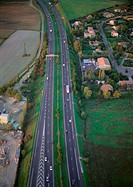 Highway, aerial view