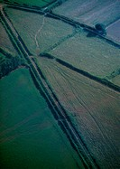 Birdseye view of fields