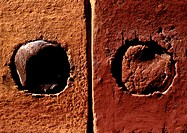 Bricks, extreme close-up