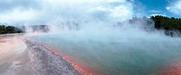 New Zealand, hot spring, panoramic view (thumbnail)