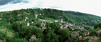 France, village, elevated view, panoramic view