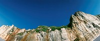 France, cliff face, low angle view, panoramic view