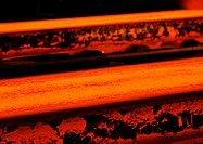 Molten steel, close-up