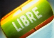 'Free' text in French, close-up