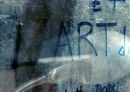 'Art' text written, close-up