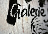 'Gallery' text in French, close-up