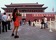 China, Beijing, people in front of the Forbidden City