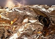 Foil, extreme close-up