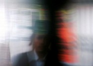 Silhouette of Orthodox Jew, blurred