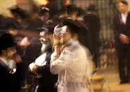 Israel, Jerusalem, crowd, blurred