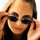 Portrait of girl wearing sunglasses