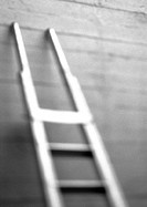 Ladder, blurred, b&amp;w