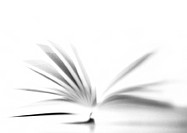 Open book, blurred, b&w