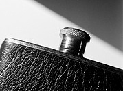 Flask, extreme close-up, b&amp;w