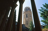 La Seu Vella's Bell tower (old cathedral) from the cloister. Lleida. Catalonia. Spain