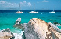 The Baths (boulders forming natural swimming pools and caves). Virgin Gorda Island. British Virgin Islands. West Indies. Caribbean