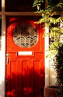 red door, London, England