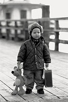 Child with suitcase