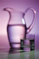 Glass and jug