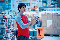 Man in superstore