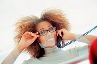 Businesswoman on telephone