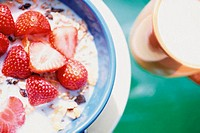 Strawberries and muesli