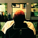 Man in barbershop