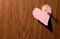 Heart shape pinned to door (thumbnail)