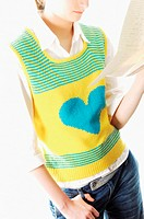 Man wearing heart shape tank top (thumbnail)